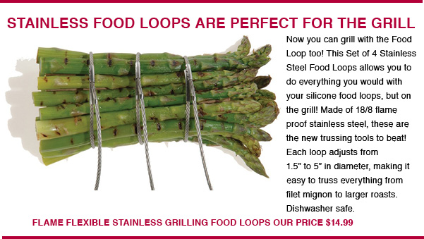 Stainless Food Loops For Grilling
