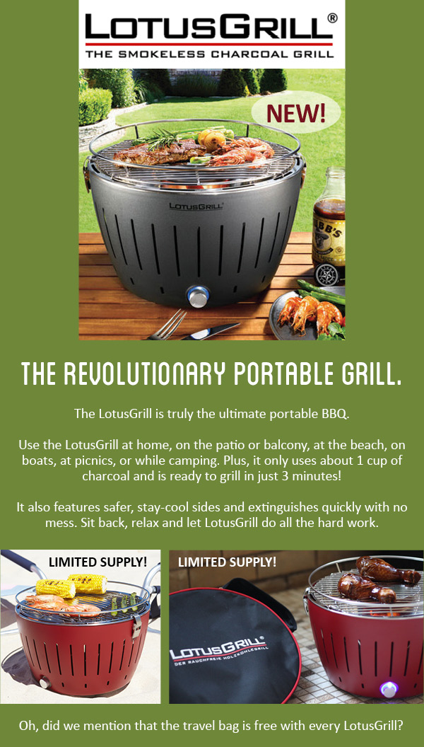 NEW! Lotus Grill - The Revolutionary Portable Grill
