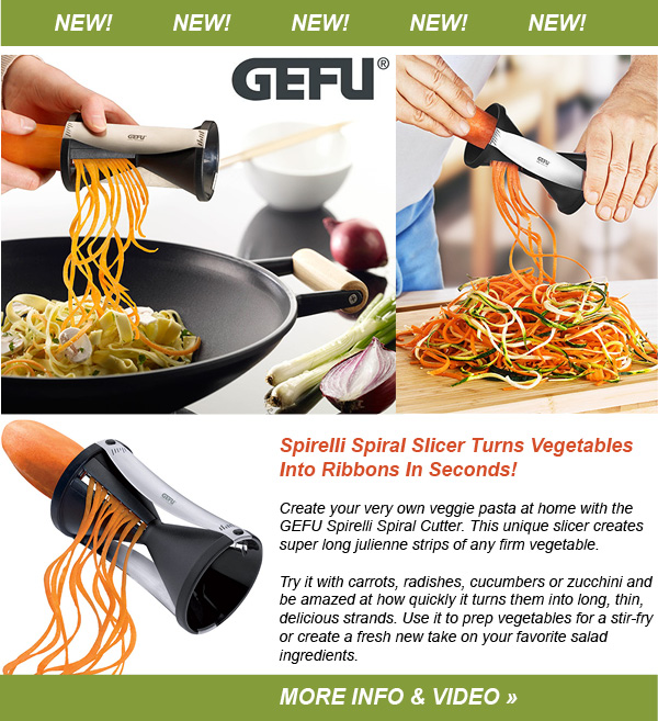 NEW Turn Veggies Into Ribbons of Pasta!