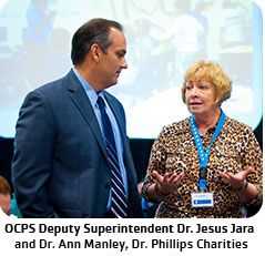 OCPS Deputy Superintendent Dr. Jesus Jara and Dr. Ann Manley of Dr. Phillips Charities