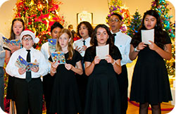 Conway Music Factory carolers from Conway Middle School